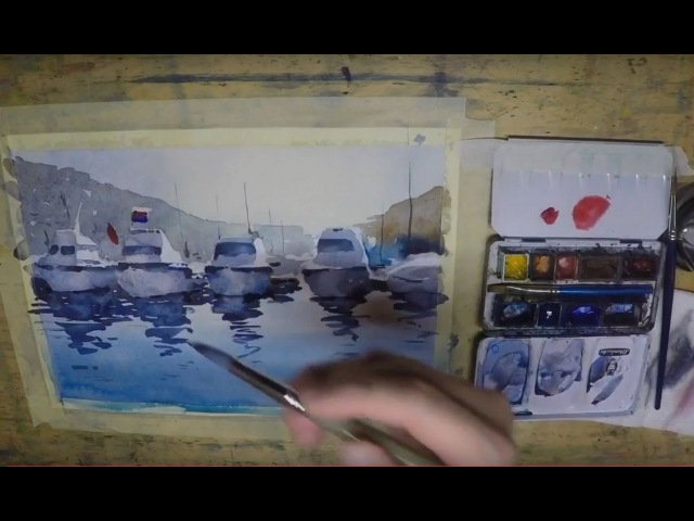 How I taught my friend Levy to paint in watercolor with shapes spots rather than lines