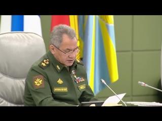 Сергей Шойгу провел селекторное совещание с руководством Вооруженных Сил.