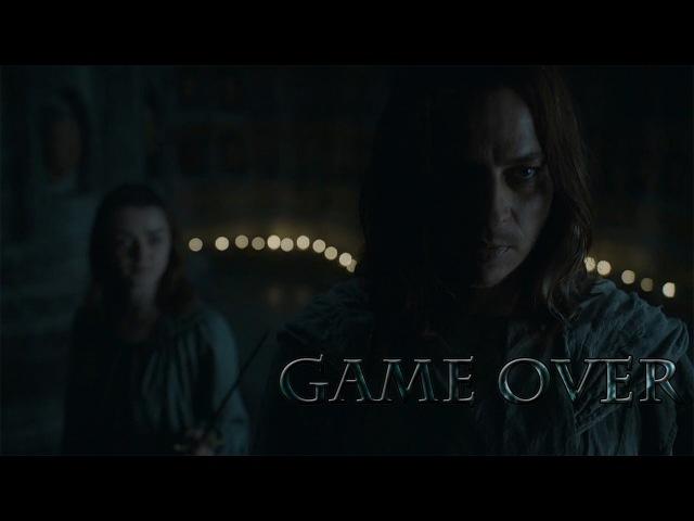Arya Stark Jaqen H'ghar Game Over