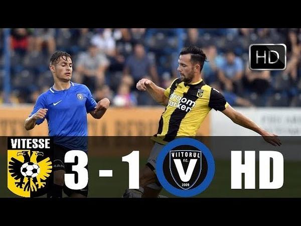 Vitesse VS Viitorul 3 1 Rezumat HD Meci Retur Jucatorii lui Hagi au iesit din Europa