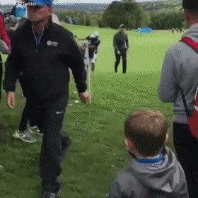 Golfer Gives Ball GIF | Gfycat