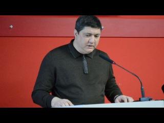 """Заместитель председателя """"Къырым бирлиги"""" Рустем Ниметуллаев на конференции 13 я..."""