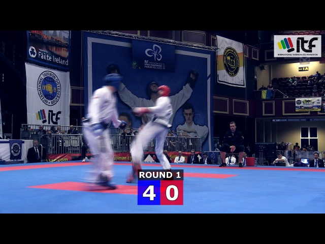 ITF WCH2017 IRELAND Final Sparring Senior Male 78kg
