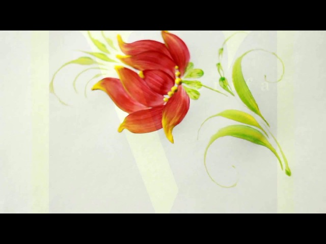 Базова квітка Петриківський розпис Відео урок