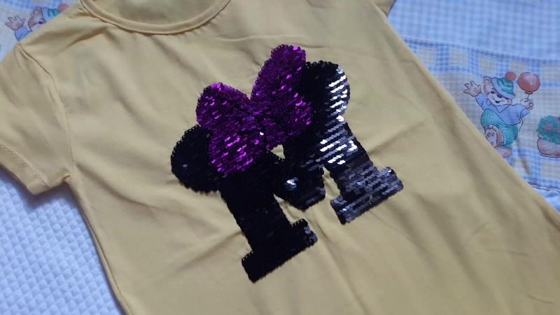 футболка с двухсторонними пайетками