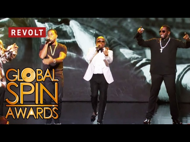 Diddy Jermaine Dupri Snoop Dogg and Ludacris perform 'Welcome to Atlanta' Global Spin Awards