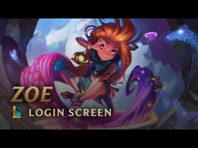 Zoe the Aspect of Twilight Login Screen League of Legends