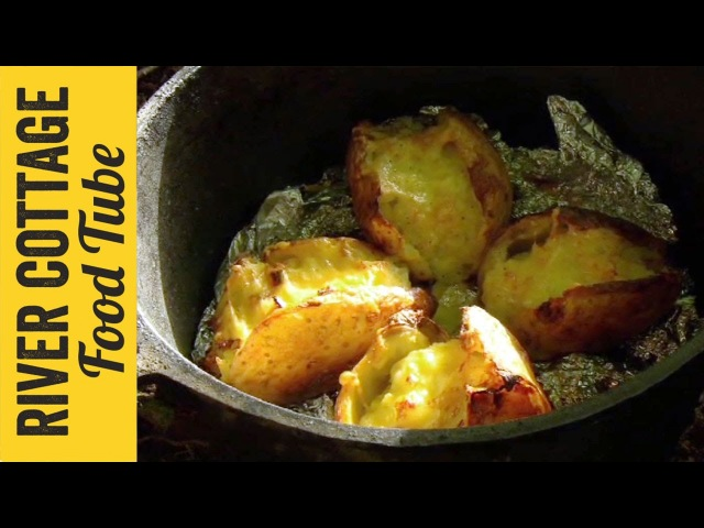 Loaded Baked Potatoes with Campfire Beans | Hugh Fearnley-Whittingstall