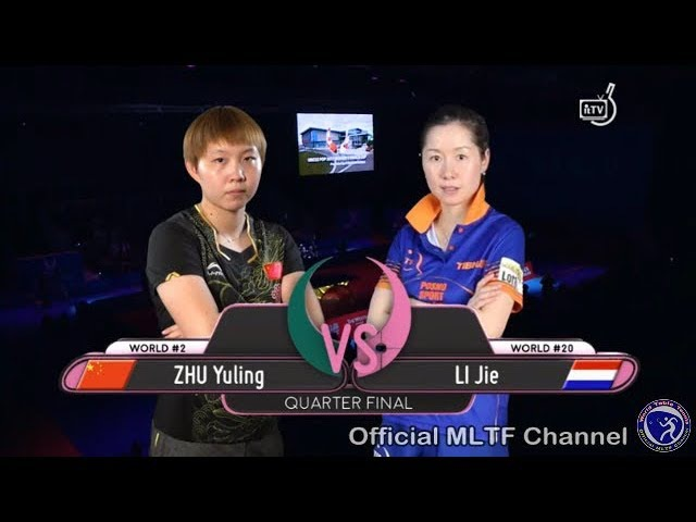 Quarter Final ZHU Yuling CHN Vs LI Jie NED 2017 Women's World Cup Full Match HD