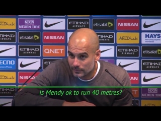 Pep about mendy run