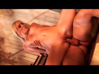 Трахнул красивую блондинку прям на лестнице Brea Bennett