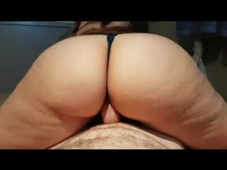 Big ass in black lace panties rides cock, gets fucked doggy, and cum on ass big ass butts booty tits boobs bbw pawg curvy matu