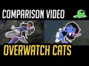 (Comparison) Overwatch but with Cats - Katsuwatch - Tank Heroes (old)