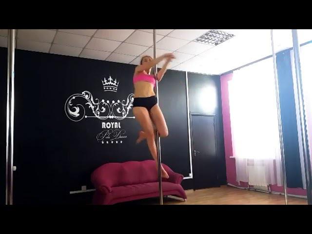 Десятник Маша ученица Royal Pole Dance маленькая связка