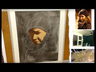 November 19, 2016 - Oil Painting live Stream - Replay #1 : Night time portrait - First session
