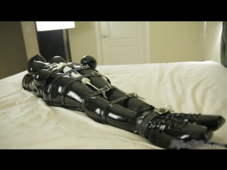 Latex suit and breathplay