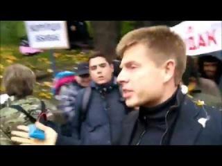 Депутата фракции Порошенко закидали яйцами под крики «Мудак,Губошлеп!»