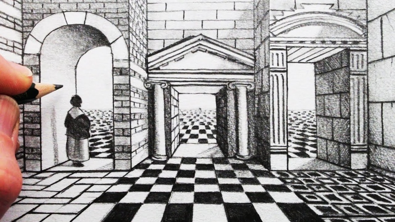 How to Draw 1-Point Perspective: Draw an Arch