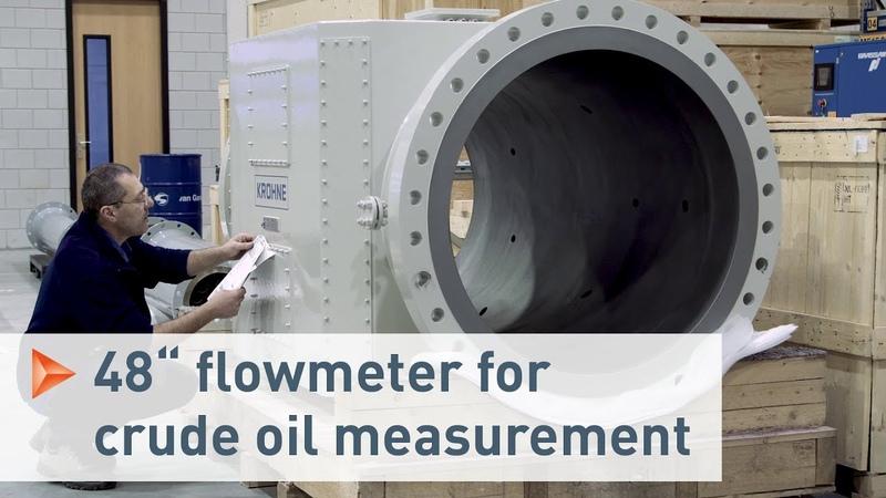 Huge ALTOSONIC 5 ultrasonic flowmeters for custody transfer CT applications KROHNE