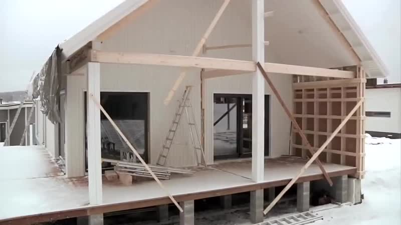 Технология строительства модульного финского дома