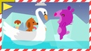 Морское приключение 3 Собачка плывет к другу Хомяку. Мультик про собачку и хомячка