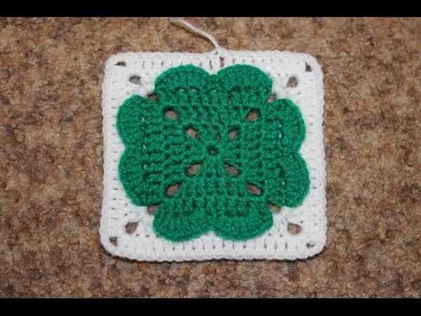 Квадратный мотив крючком №3. Square Crochet Motif.