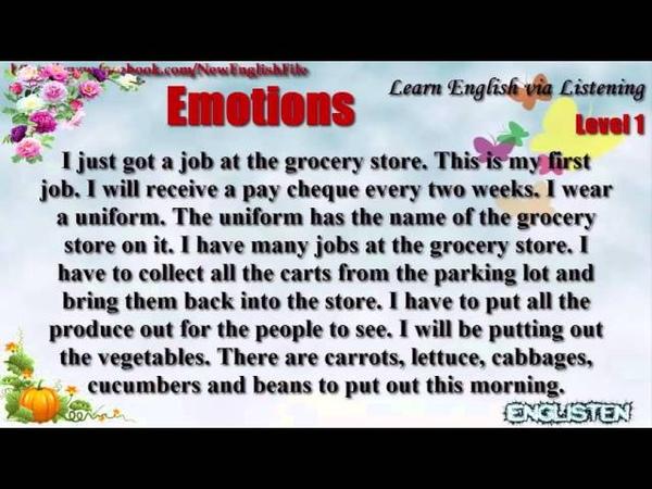 Learn English via Listening Level 1 Unit 79 My First Job