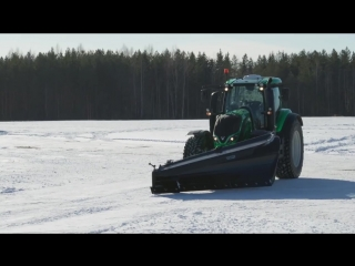 World's fastest snow _ploughing with an unmanned tractor_