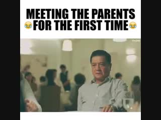 Meeting the parents for the first time..
