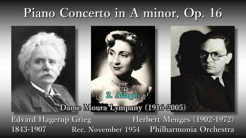 Grieg Piano Concerto, Menges Menges (1954) グリーグ ピアノ協奏曲 リンパニー&メンゲス