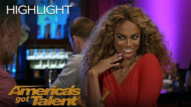 Simon Cowell Sabotages Tyra Banks' Blind Dates Hilarity Ensues America's Got Talent 2018