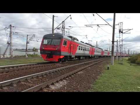 Электропоезд ЭД4М-0429 (ТЧ-31) пригородный поезд № 6610, Домодедово - Москва.