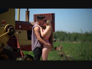 Kissing prank family farm day