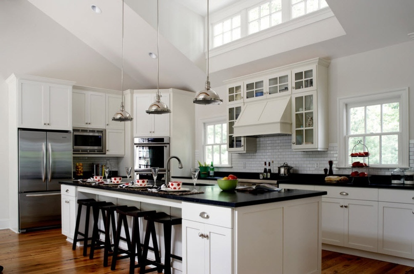 Черно-белая кухня – особенности контрастного дизайна., изображение №16