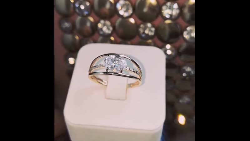 Кольцо 585 пробы, вес 2,57 гр., размер 18,5, цена 6 425 р. Фианиты.