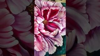 """Картина маслом """"пион крупным планом"""" Анастасия Арчиловская"""