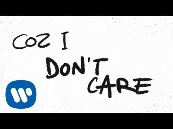Ed Sheeran Justin Bieber I Don't Care Official Lyric Video