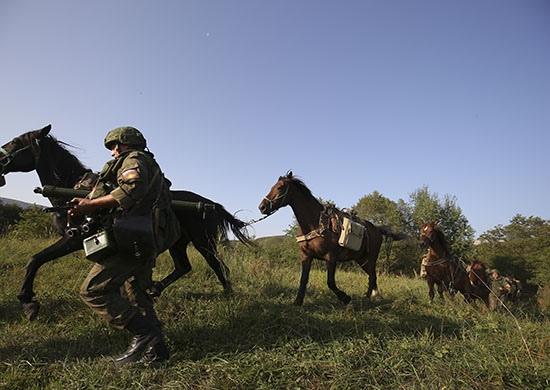 В горах КЧР вьючный транспорт поставил рекорд на военных учениях