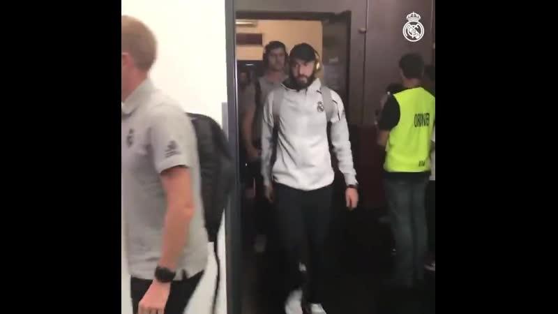 Мадридисты прибыли на стадион