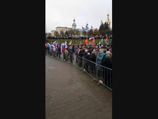Тамбов. площадь музыки 4 ноября 2018