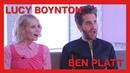 Lucy Boynton Ben Platt recall their schooldays talk evil glares and all things The Politician