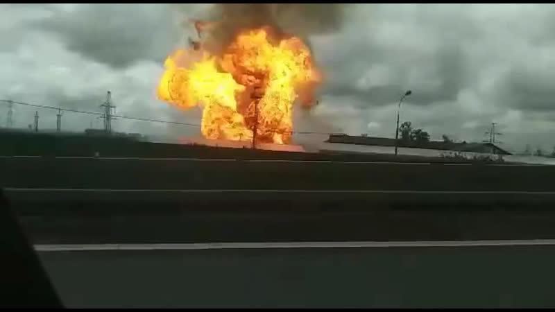 Только что в районе Мытищ рванула Северная ТЭЦ, сейчас там бушует пожар.