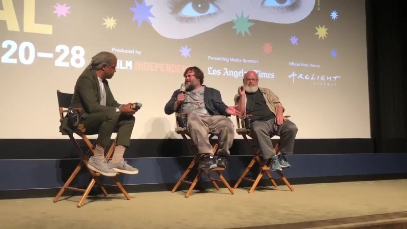 It was all laughs at the Writers Guild Theater tonight for the screening of @RealTenaciousD in POST APOCALYPTO @jackblack @Gass
