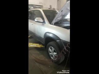 Ремонт, удаление катализаторлв на Hyundai Tucson 2l