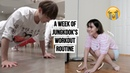 I followed Jungkook's workout routine for a week getting fit with yoora season 1 ep 1