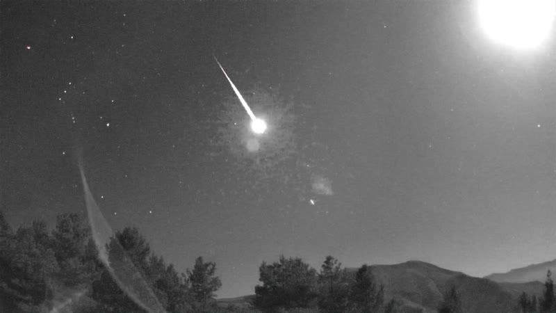 Яркий метеор в ночь 15 16 сентября 2019