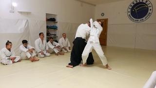 Aikido Katate ryote tori(morote tori) shiho nage(omoto, ura) on both hands