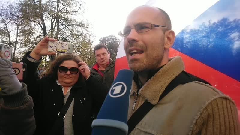 Rozhovor aktivisty Zdeňka Chytry pro německou televizi ARD