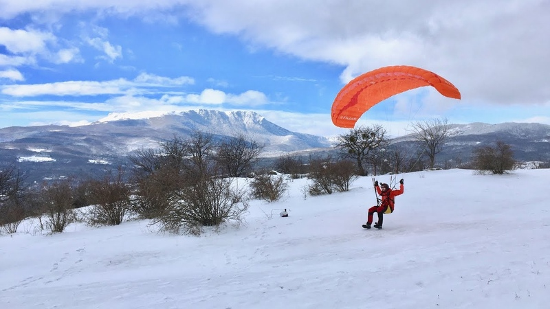 Спидфлаинг на горе Демерджи Speedflying on Demerdji mountain