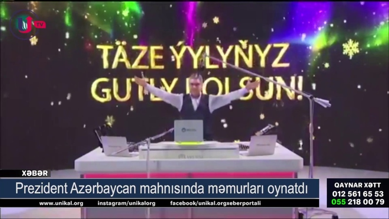Prezident Azərbaycan mahnısında məmurları oynatdı